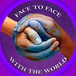 face to face with the world logo